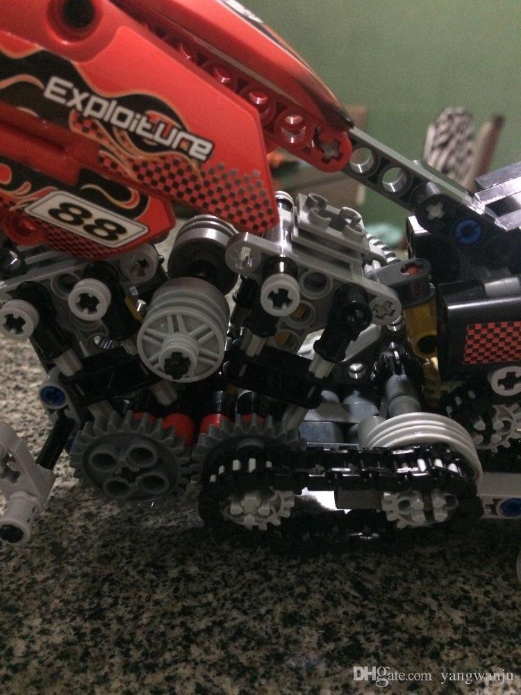 HOT Technic Motorcycle Exploiture Model Harley Vehicle Building Bricks Block Set Toy Gift Compatible With Legoe