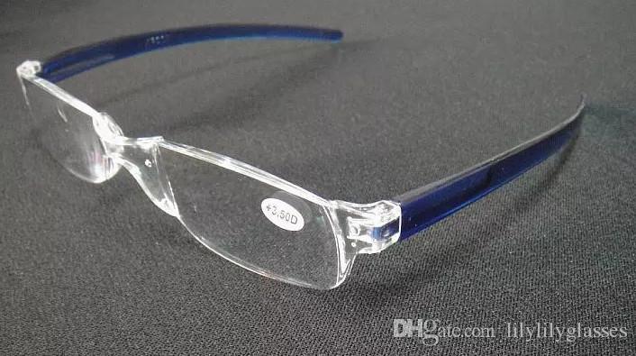 20 stks / partij mode plastic leesbril, onbreekbaar !! Sterkte van +1.00 tot +4.00 Accepteer gemengde bestelling