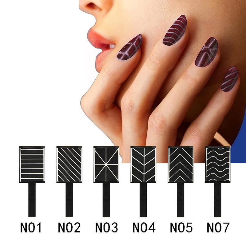 Wholesale- Elite99 Cat Eyes 3D Magnet Stick Magnet Drawing Vertical Stick For UV Nail Gel Polish Use 3D Magical Nail Tool 6 Styles Pick 1