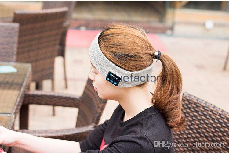 Bluetooth Music Wrap Hat Headband Stereo Wireless Headset Earphone Handfree Sports Running Yoga Stretch Head Cap for Mens Womens