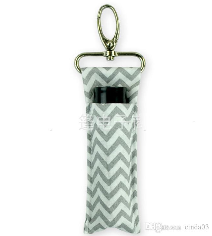 Vente en gros nouveau porte-rouge à lèvres personnalisé Chevron Chapstick Porte-Monogramable multi Chevron Lip Palm Holder Livraison gratuite