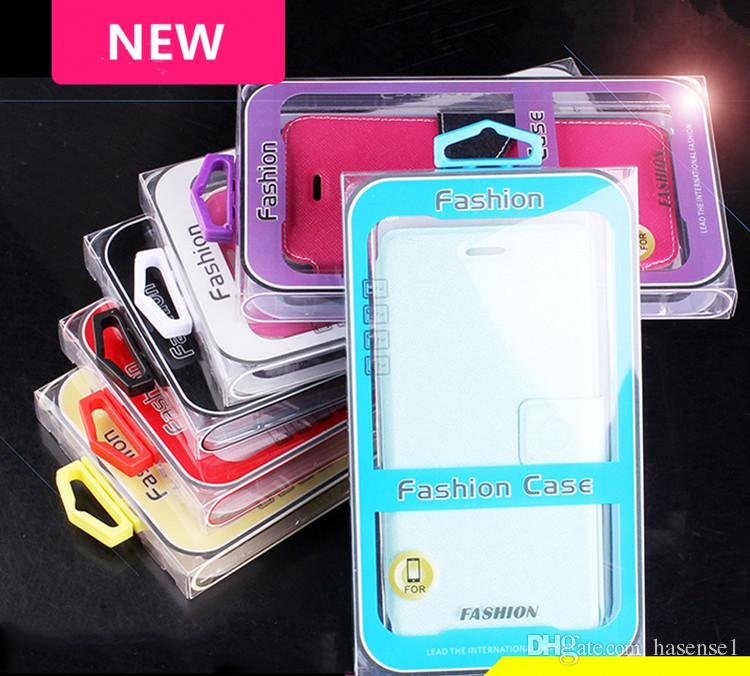 New PVC Retail Packages Universal Cell Phone Case Packaging Without Inner Tray Empty Boxes for Samsung S8 S7