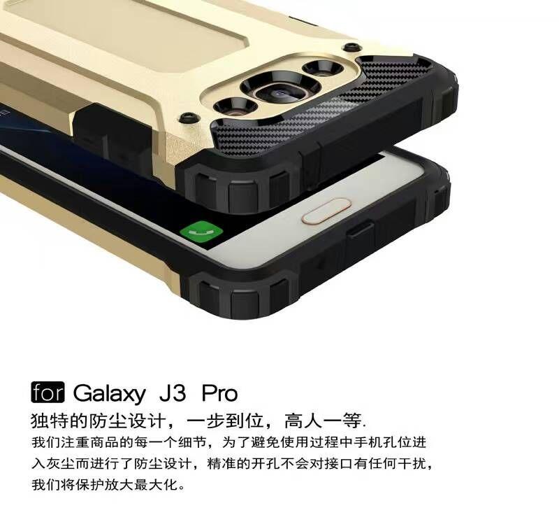 Para samsung galaxy j5 j7 j3 pro j510 j710 j1 2016 j120 cor J210 10 armadura híbrido defensor case tpu + pc à prova de choque capa case 50 pçs / lote