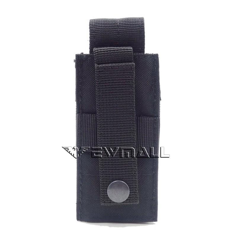 Tactical Molle Utility Tools Knife OC Spray M5 Flashlight Pouch Holster