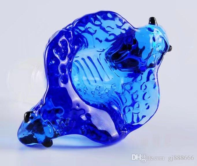 Shaped bubble glass bongs accessories , Glass Smoking Pipes colorful mini multi-colors Hand Pipes Best Spoon glas