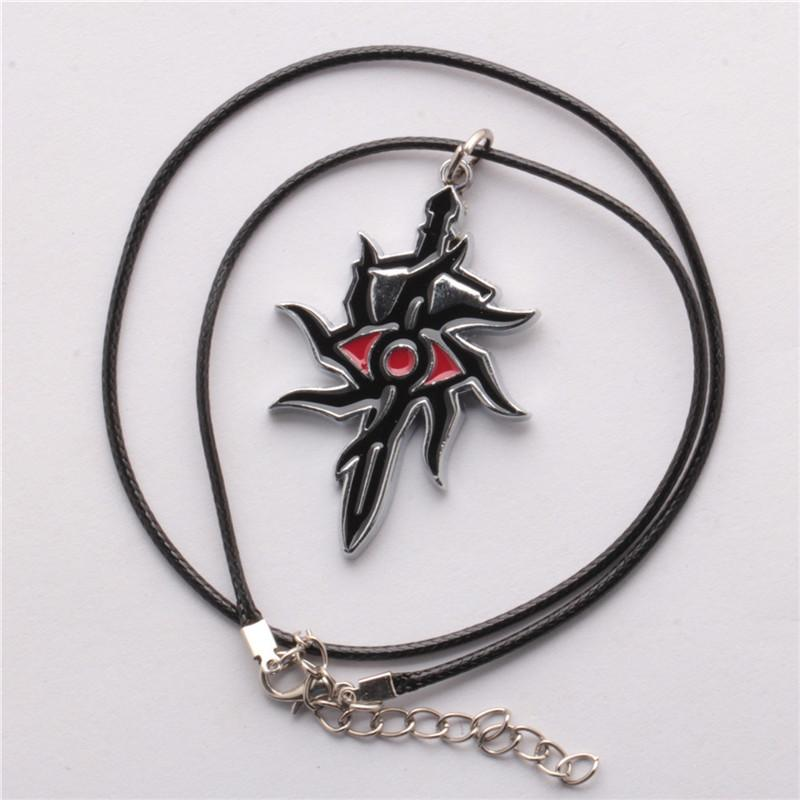 Dragon Age 3 Inquisition Game Jewelry Necklaces & Keychain Alloy Pendant Leather Chain Necklace Key Chain For Gift