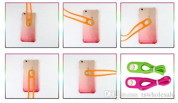 Universal Cell Phone Strap Neck Hanging Lanyard Stretchy Silicone Phone Strap Detachable Retractable Breakaway for Any Phone