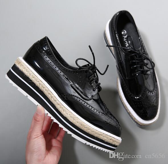 2017 Marka Yeni Stiller Takozlar platformu Ayakkabı Yüksek Kalite Ayakkabı Yüksekliği Artan Dantel Kadar Yıldız Ayakkabı Kadın Pist Rahat Ayakkabılar, size34-42