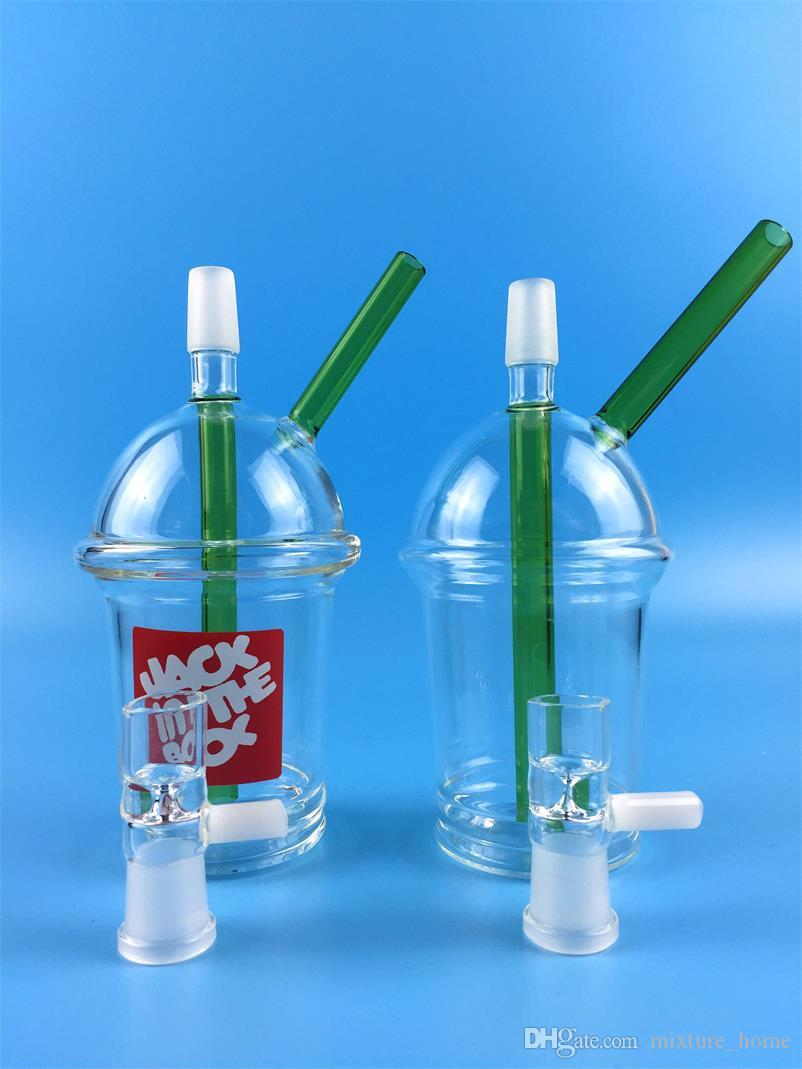 Hookahs McDonald Cup Spritech Tree Cup Starbuck Cup Original Opaque concentrate oil rig glass bong glass Adapter Hookah glass water pipe