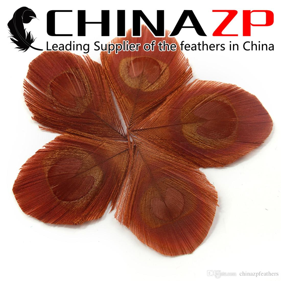 Leading Supplier CHINAZP Factory 100pcs/color/lot Best Quality Dyed Colorful Big Eye Trimmed Peacock Feathers DIY Decorations