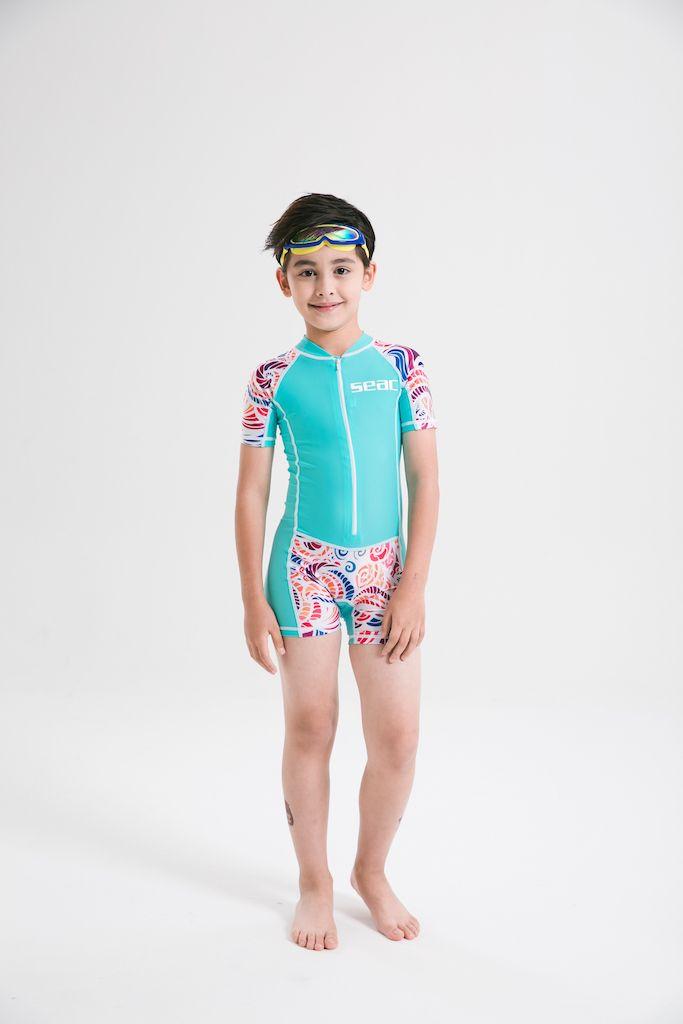 4461b1b3b9 Boys And Girls Wetsuit Swimsuit Swim Swear Short Sleeve Leggs Uv Protection Bodysuit  One Piece Lycra Skin Rush Guard Girls Swimsuit Lycra Skin Short Sleeve ...