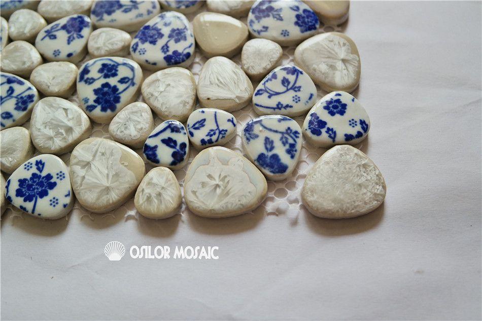 irregular pattern ceramic mosaic tile for bathroom and kitchen decoration wall tile floor tile 4 square meters