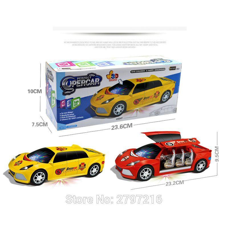 Heißer Verkauf Lustige 3D Blinklicht Licht Musik Auto Mit Sound Elektrische Spielzeugautos Kinder Spielzeug Kinder Geschenk Diecast Toy Fahrzeuge