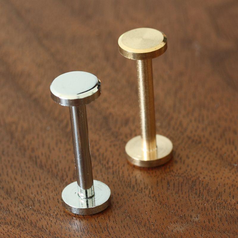 height 22mm wallet bag screw brass belt Rivet diy handmade leather car key case fastener hardware part