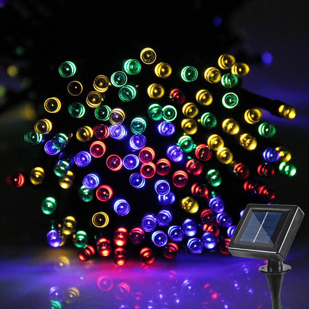 led string lights waterproof led solar outdoor lighting 20m fairy lights garden for christmas festival party wedding decoration solar light solar powered