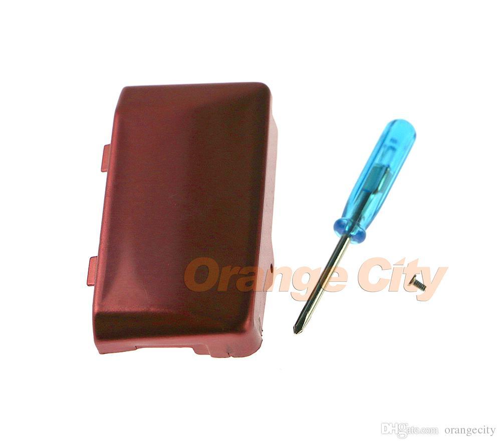 Remplacement Argent Noir Rouge Pour Gameboy Micro Couvercle De Porte Batterie Avec Tournevis Pour GBM Batterie Cas