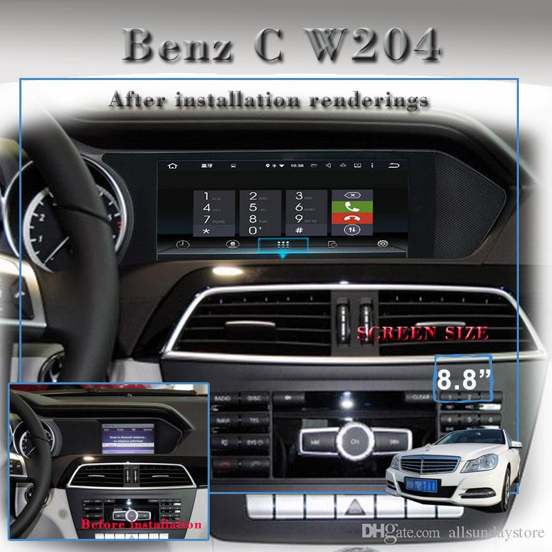 Android 7 1 Car DVD Player GPS Navigation For Mercedes Benz C Class W204  2012 2013 With Bluetooh SD USB AUX Video Stereo Dvd Player For Car Dvd  Player
