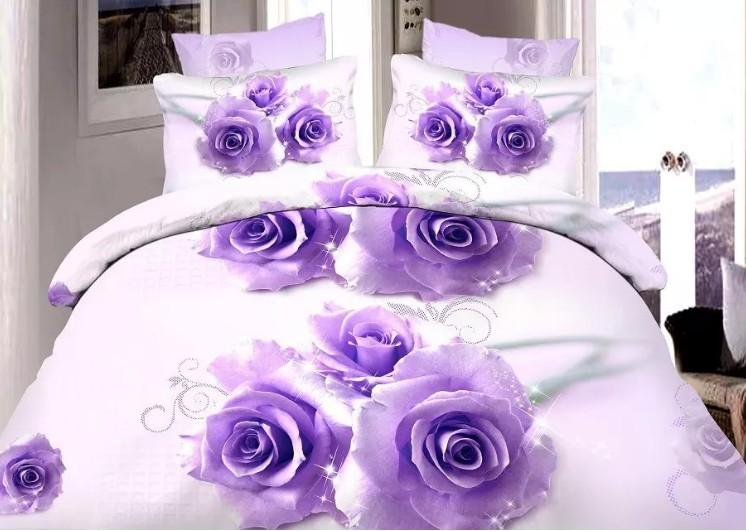 Roses Department Store 3D Purple Rose Bedding Sets Quilt Duvet Cover Bed In  A Bag Sheet Linen Bedspread Queen Size Full Bed Sheet Bed Sheets Sheets  Online ...