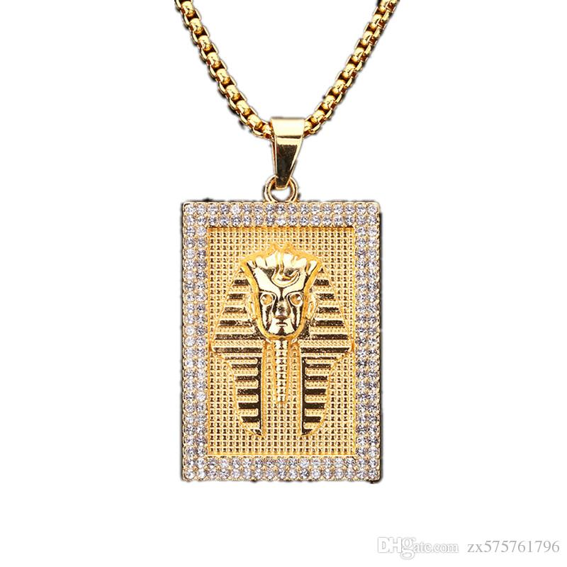 gold mens jewelry medusa patern necklace chain ebay greek curb l cuban chains men medallion pendant