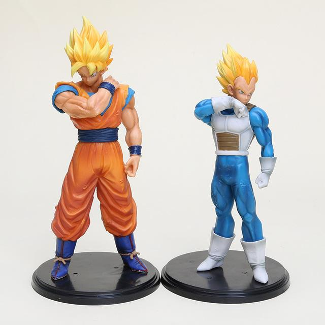 1 Stück Dragon Ball Z Figuren Ros Goku Super Saiyan Vegeta Dragonball Z Pvc Action Figuren Spielzeug 17 22 Cm