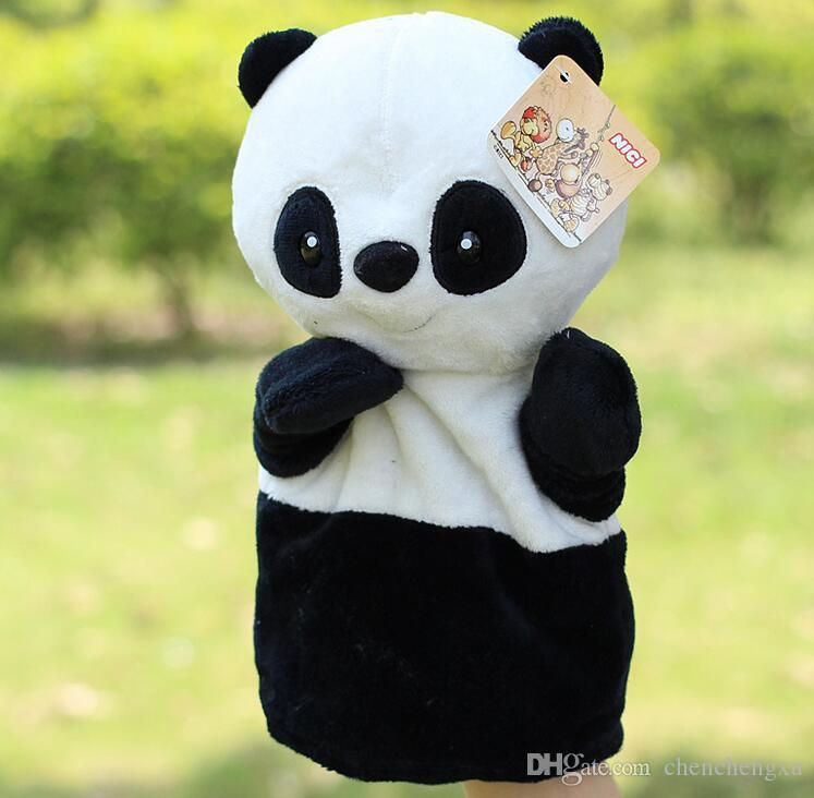 wholesale Hot sale super cute plush toy nici forest animal hand puppet for baby Story