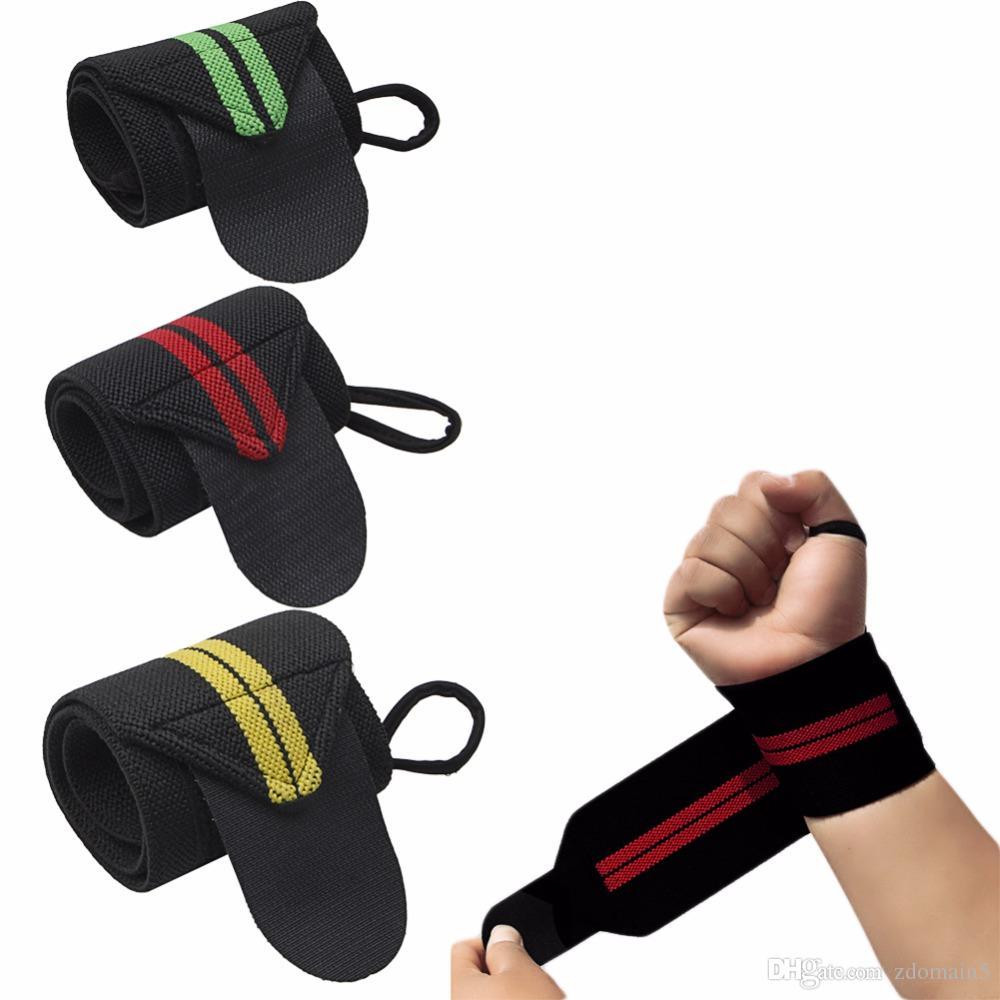 Compre Wrist Wraps Training Correias De Pulso Suporte Para Crossfit Halterofilismo E Powerlifting Polegar Loop Fcil Aplicao Zdomain5
