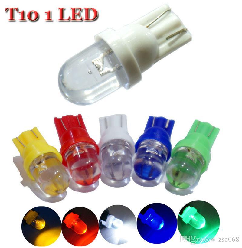 T10 الملونة LED ضوء 194 501 W5W ضوء السيارة الجانبية السيارات الوتد LED مصباح لمبة لمبات السيارة 12V وقوف السيارات