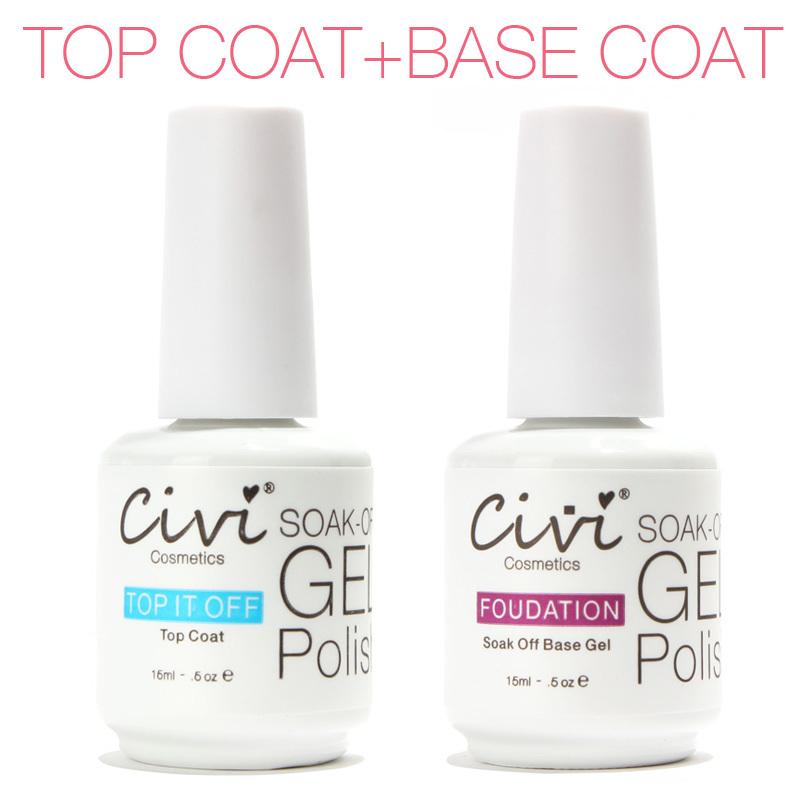 Wholesale Nail Gel Uv Topcoat Top It Off + Base Coat Foundation For ...