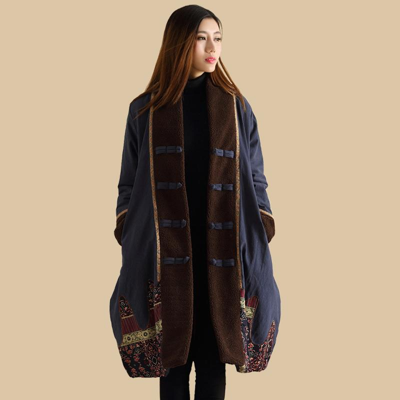 Ethnic Trench Coat 2017 Women Winter Jacket Wadded Long Jacket ...
