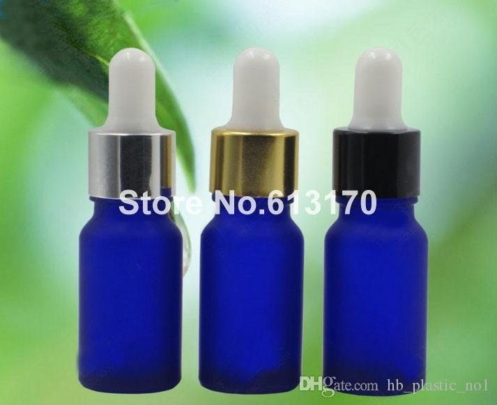 ff87f86106a5 10ml 1/3oz Blue empty Glass Eye Dropper Bottles frosted Vials Essential Oil  Cosmetic Packing Sampling Storage containers