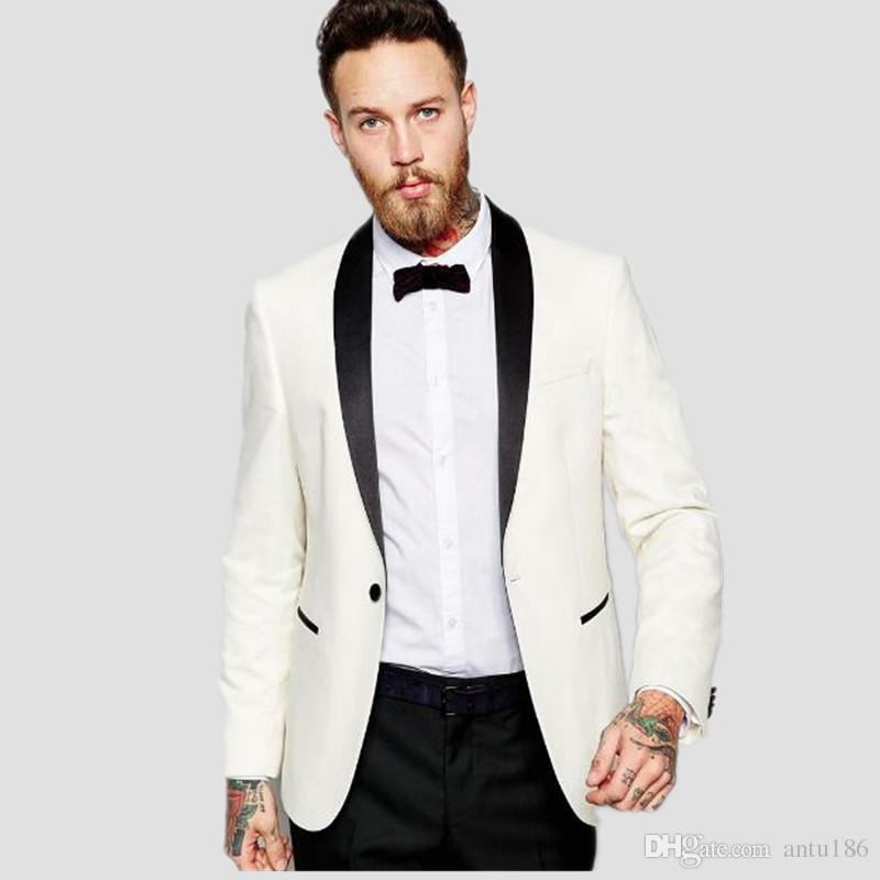 Mais recente estilo homens ternos feitos sob encomenda do casamento ternos smoking moda noivo bonito melhor homem vestido ternos jaqueta + calça