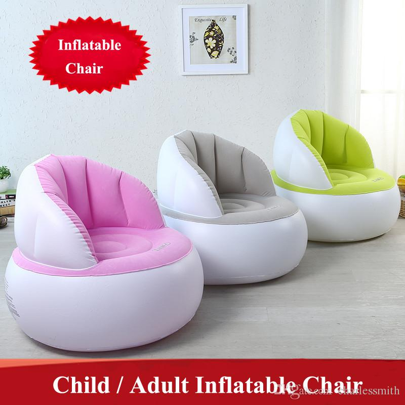 2019 Cute Folding Flocking Inflatable Sofa Lazy Chair Bedroom Furniture Bean Bag Armchair Kid Gaming Computer Stool From Charlessmith