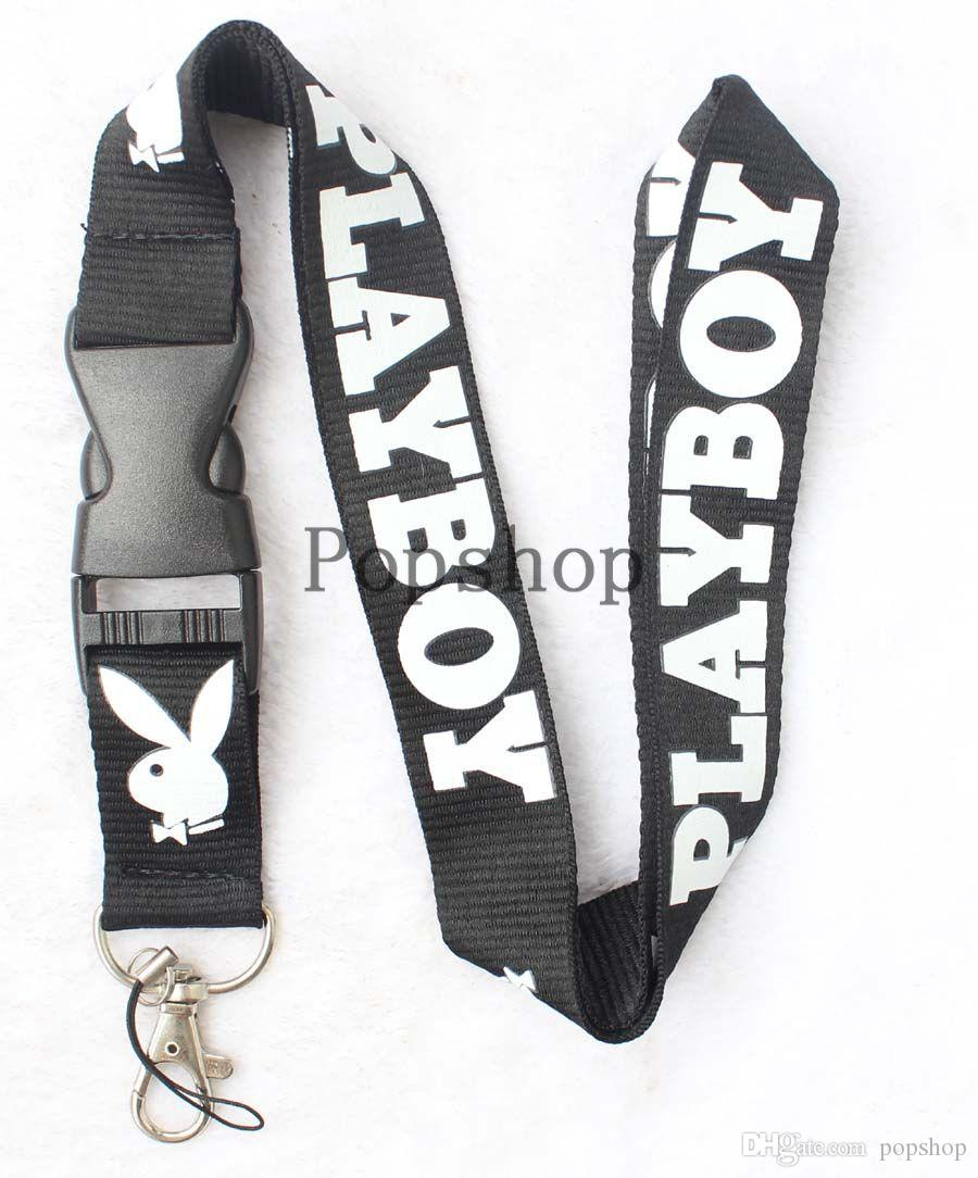 New! Super Playboy Lanyard Keychain Key Chain ID Badge cell phone holder Neck Strap.