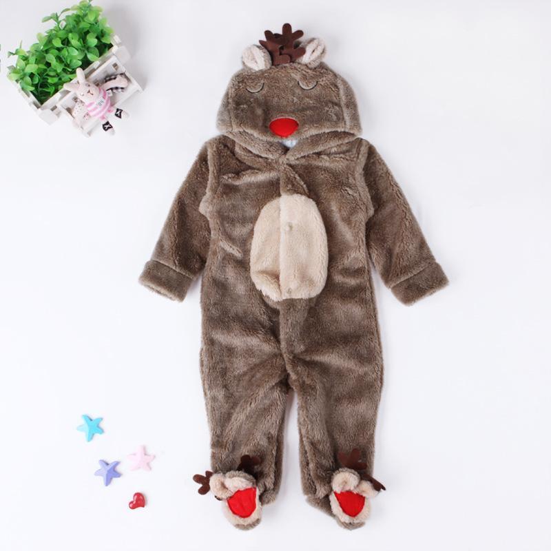 3976bab28663 Baby Pajamas Kids Boys Girls Clothes Autumn Winter Pajamas Elk Coral ...