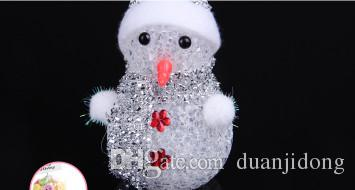 Christmas gifts Santa Claus flash luminous Snowman Christmas gift decoration color stripe Christmas decorations Decorative pendant