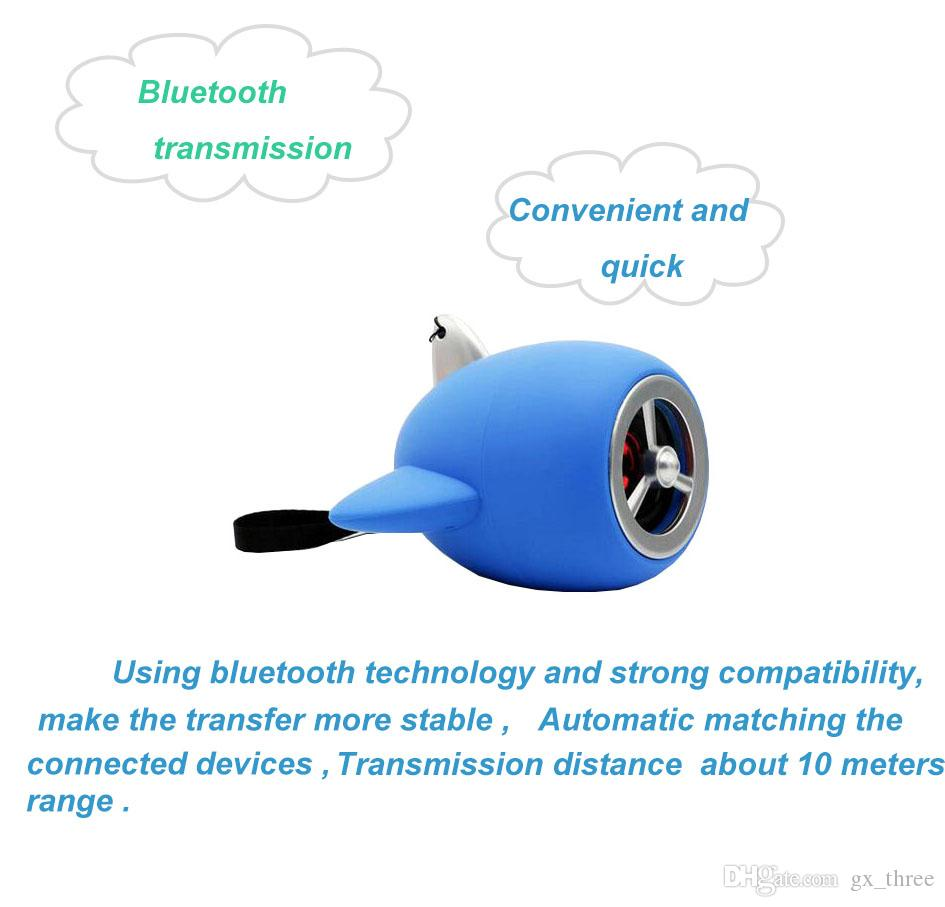 Blaue Farbe kreative Flugzeug-Modell Mini-Bluetooth-Handy Stereo-USB schwere Bass-Cartoon kleine Waffe Sound