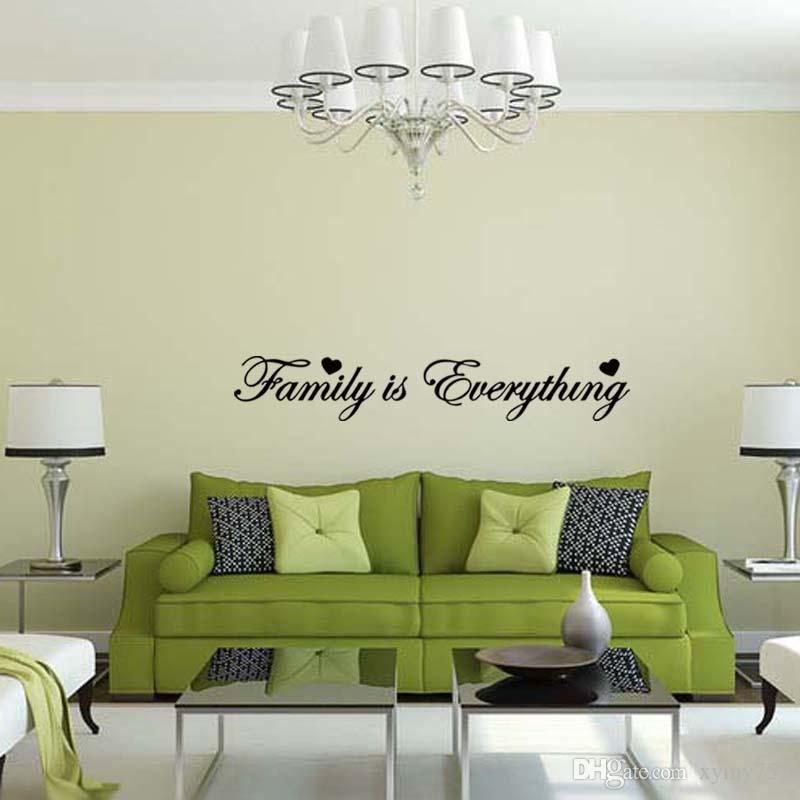 Family Is Everything Wall Sticker Vinyl Art Quote Decal Bedroom Sitting Room  Words For Love Diy Decor Wall Decals For Girls Room Wall Decals For Home  From ... Part 97