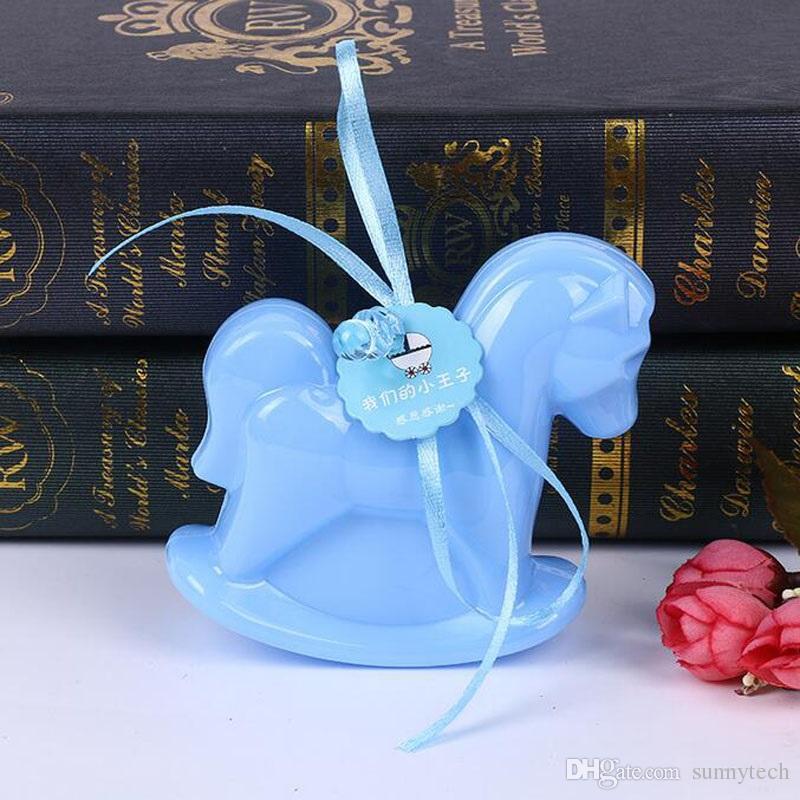 reizender Plastikpferdeformgeburtstagsfeier-Babyparty-Süßigkeitskasten-Taufedekorationsfestlichkeitsnahrungsmittelkasten ZA4978