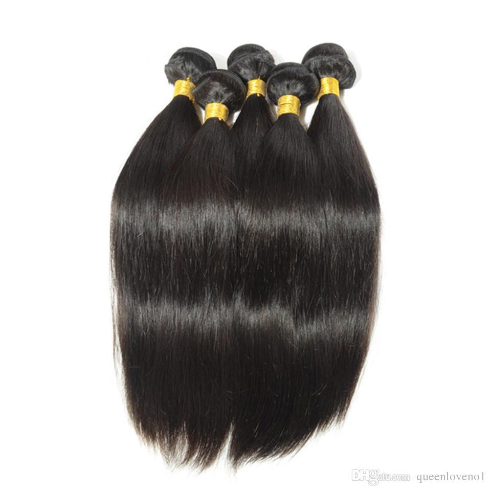 Peruvian Straight Hair Weaves Unprocessed Human Virgin Hair Weaves Remy Human Hair Extensions Dyeable 3bundlesNo Shedding