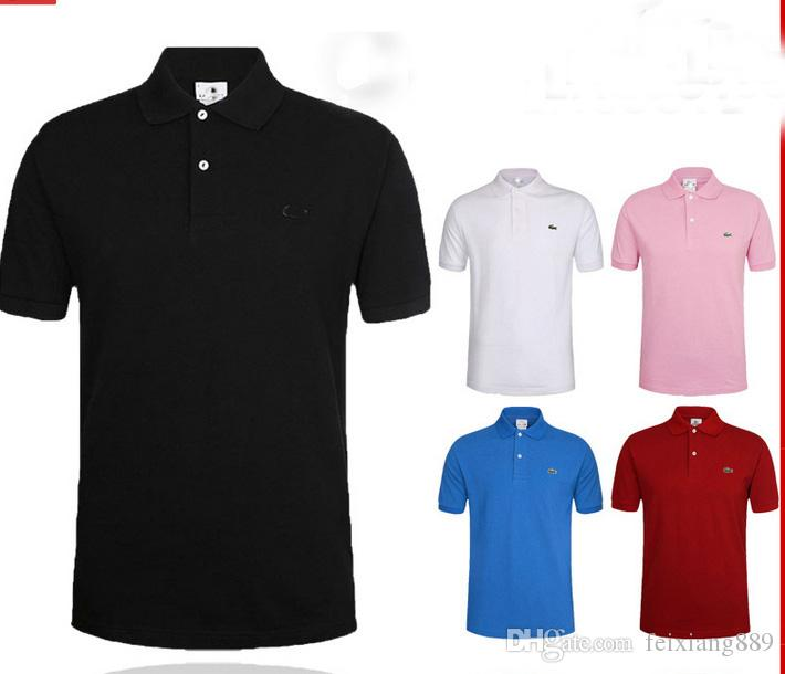 20 Kolor! 2017 Letnia Haft Koszula Polo Męskie Krótki Rękaw Polos Koszula Mężczyźni Sporty Casual T Shirt Koszulki Golfowe US Rozmiar S-6XL