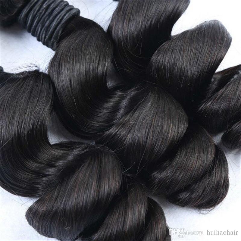Brazilian Loose Wave Human Hair Weaves 8A 100% Uprocessed Brazilian Human Hair Hair Products