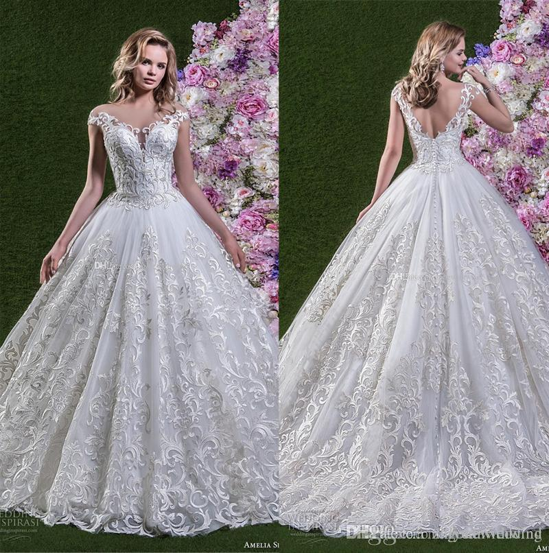 Full Embellishment Ball Gown Wedding Dresses 2018 Amelia