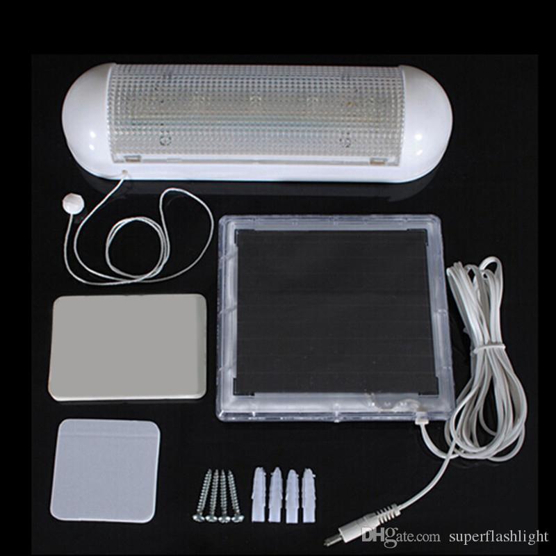 Verkauf! Indoor Solar Powered 5 ultra helle weiße LED-Licht Garage Wandleuchte wiederaufladbare Batterien LEG_735