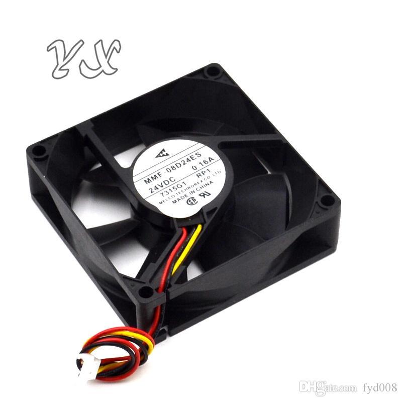 새로운 MMF - 08D24ES 24V 0.16A 8025 8CM 미쓰비시 80 * 80 * 25mm에 대한 3 라인 드라이브 냉각 팬