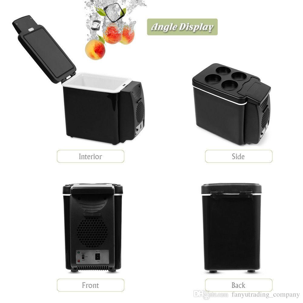 Tragbare Auto Gefrierschrank 4l Mini Kühlschrank Kühlschrank Auto Nach Hause Dual Verwenden Auto Kühlschrank 12 V Kühler Heizung Universal Fahrzeug Teile Kühlschränke Großgeräte