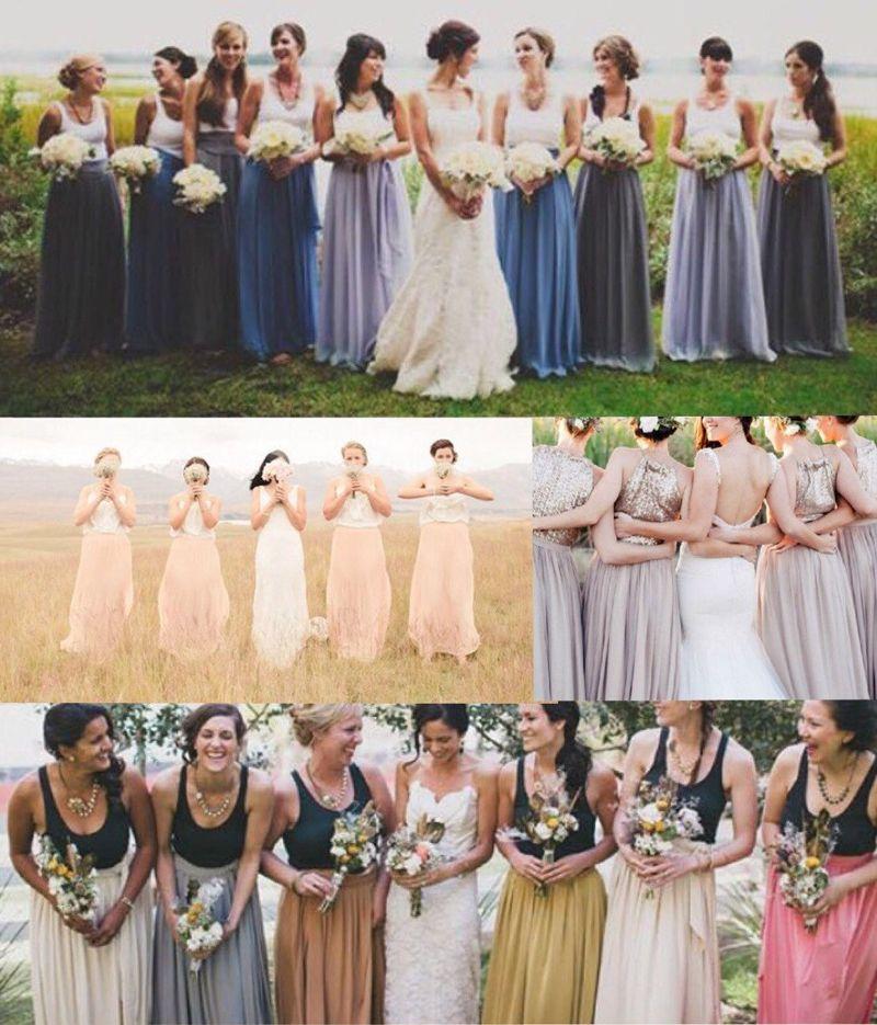 Пользовательские цветные юбки длинные макси длинные максимум Tulle длиной на заказ юбка подружек невесты высококачественные свадебные юбки