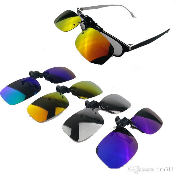 Wholesale - Multi color Polarized sunglasses Clips new style Polarized Mirror Clips eyeglasses Sunglasses Lens Clamps CA029