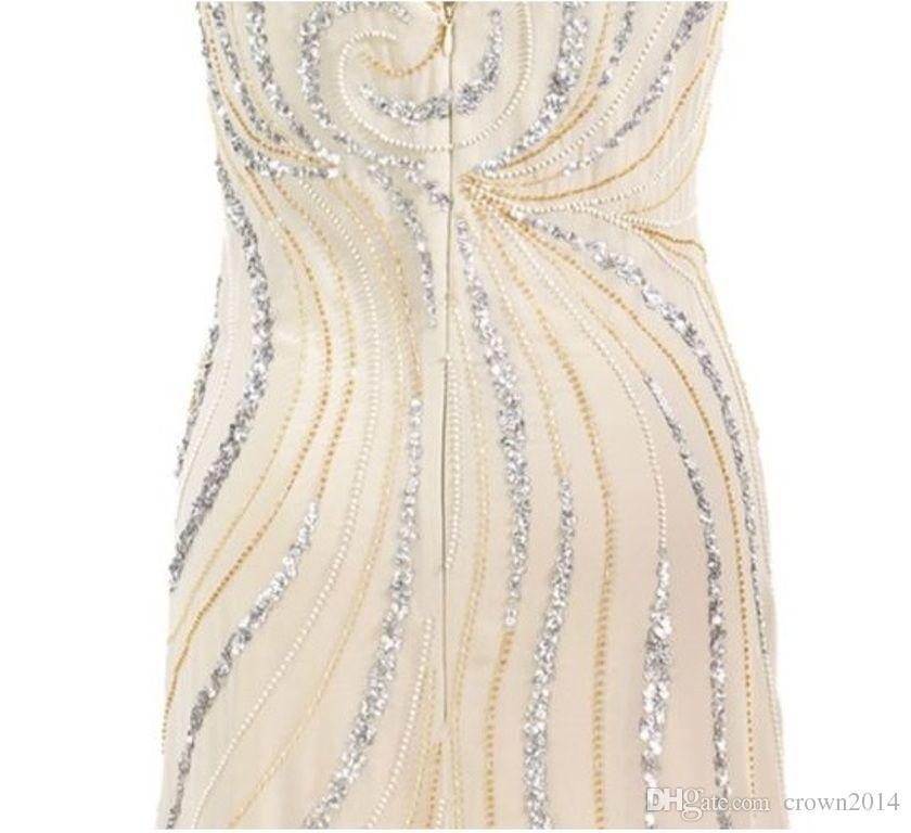 2019 Knöchellangen Chiffon Brautmutter Bräutigam Kleid Mit Langarm Jacke A-Linie V-Ausschnitt Perlenstickerei Elegant Champagner Real Photo Plus