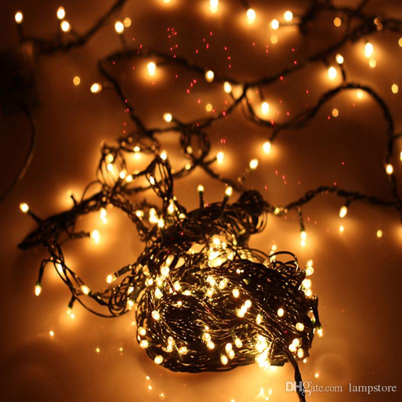 4.5 Meters 100 LED Christmas Decoration Lights Warm White Rice Lamp ...