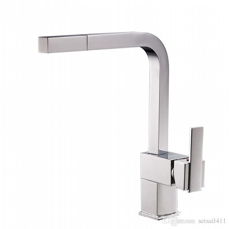 Online Cheap Brass Pull Out Kitchen Faucet Sink Mixer Tap Single ...